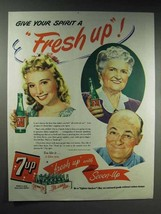 1944 7-up Soda Ad - Give Your Spirit a Fresh Up! - $14.99