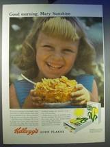 1956 Kellogg's Corn Flakes Cereal Ad - Mary Sunshine - $14.99