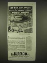 1935 Ruberoid Roof Ad - Cleveland Municipal Stadium - $14.99
