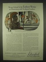 1935 Kimberly-Clark Kleerfeet Paper Ad - Democracy - $14.99