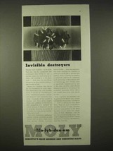 1935 Climax Molybdenum Ad - Invisible Destroyers - $14.99