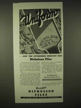 1935 Nicholson Files Ad - Uniform, Automobile Industry - $14.99
