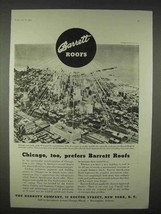 1935 Barrett Roofs Ad - Chicago Too Prefers - $14.99