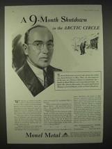1935 International Nickel Monel Metal Ad, Arctic Circle - $14.99