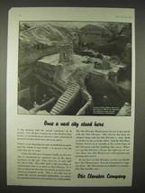 1935 Otis Elevator Ad, Temple of Enlil Nippur Babylonia - $14.99