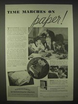 1935 Hammermill Mimeograph Paper Ad - Time Marches - $14.99