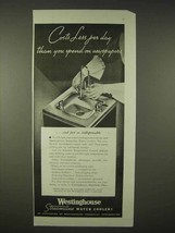 1935 Westinghouse Streamline Water Cooler Ad - $14.99