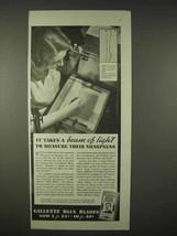 1935 Gillette Blue Blades Razor Ad - A Beam of Light - $14.99