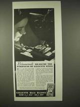 1935 Gillette Blue Blades Razor Ad - Diamonds Measure - $14.99