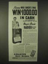 1935 Gillette Blue Blades Razor Ad - Max Baer - $14.99