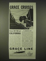 1935 Grace Line Cruise Ad - New York - $14.99
