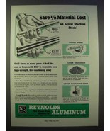 1946 Reynolds Aluminum Ad - Save 1/2 Material Cost - $14.99