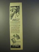 1946 Zippo Cigarette Lighter Ad - Genuine Post-War - $14.99