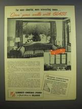1945 Libbey-Owens-Ford Glass Ad - Thermopane Window - $14.99