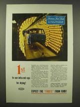 1945 Ford Car Ad - Use Infra-Red Rays for Drying - $14.99