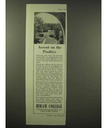 1945 Hiram College Ad - Accent on the Positive - $14.99