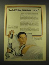 1944 Revere Copper and Brass Ad - 15 Blood Transfusions - $14.99