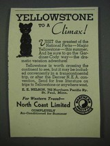 1935 Northern Pacific Railroad Ad - Yellowstone Climax - $14.99
