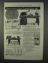 1934 South Bend Lathes Ad - Valuable Books - $14.99