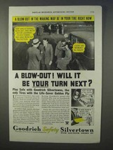 1934 Goodrich Safety Silvertowns Tire Ad - A Blow Out! - $14.99