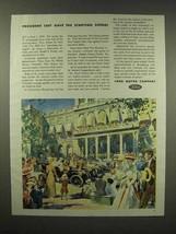 1944 Ford Car Ad - President Taft Gave Starting Signal - $14.99
