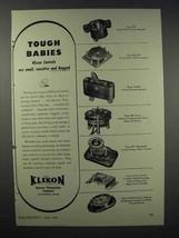 1943 Klixon Controls Ad - Tough Babies - $14.99