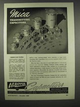1943 Aerovox Mica Transmitting Capacitors Ad - $14.99