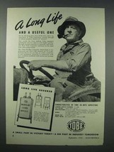 1943 Tobe Oilmite Capacitor Ad - A Long Life - $14.99