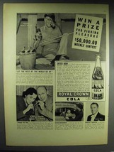 1938 Royal Crown Cola Soda Ad - For Finding Pleasure - $14.99