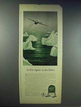 1943 Quaker State Motor Oil Ad - Far Apart as The Poles - $14.99