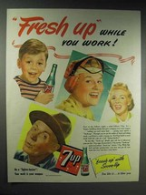 1944 7-up Soda Ad - Fresh Up While You Work - $14.99