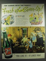 1947 7-Up Soda Ad - Top Scorer With the Family - $14.99