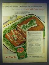 1954 Del Monte Sugar Peas Ad - Special Salmon Loaf - $14.99