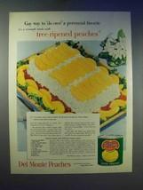1955 Del Monte Peaches Ad - Cottage Cheese Salad - $14.99