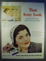 1954 Ivory Soap Ad - That Ivory Look - $14.99