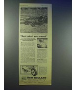 1955 New Holland Rotabar Rake Ad - Best I Ever Owned - $14.99