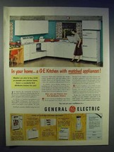 1951 General Electric Kitchen Appliances Ad - Matched - $14.99