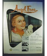 1954 Pond's Angel Face Make-Up Ad - Top Fashion - $14.99