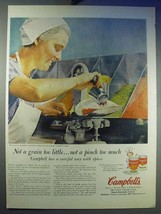 1956 Campbell's Pork & Beans Soup Ad - Not Too Little - $14.99