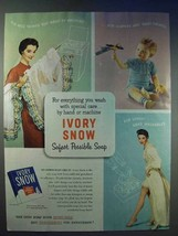 1954 Ivory Snow Detergent Ad - Safest Possible Soap - $14.99