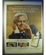 1956 Chesterfield Cigarettes Ad - Packs More Pleasure - $14.99