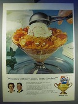 1956 Wheaties Cereal Ad - With Ice Cream Betty Crocker? - $14.99