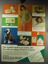 1964 Alpine Cigarettes Ad - Menthol Smokers Get Gifts - $14.99