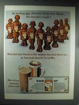 1965 Nestle Cocoa Mix Ad - An Exciting Chocolate Drink - $14.99