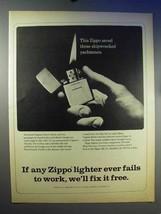 1966 Zippo Cigarette Lighter Ad - Saved Shipwrecked - $14.99