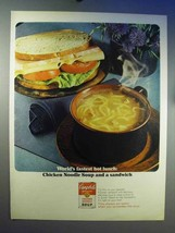 1966 Campbell's Chicken Noodle Soup Ad - Fastest Lunch - $14.99