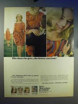 1967 Clairol Nice 'n Easy Hair Color Ad, Closer He Gets - $14.99