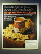 1970 Campbell's Tomato Soup Ad - Soup and Crackers - $14.99
