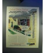 1948 Reynolds Aluminum Ad - Gutters, Casement Windows - $14.99