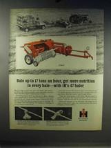 1967 International Harvester 47 Baler Ad - More Nutrition - $14.99